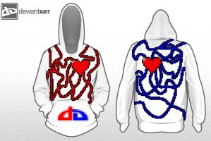 Heart Vessels Hoodie by jflaherty90
