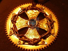 Cross-gear pendant by mpv666