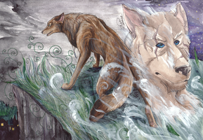 son of a wolf by artist-Kat
