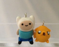 Finn and Jake: Polymer Clay by Natsumi-love