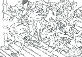 Sonic and Friends Line by shaunC