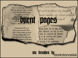 Burnt pages by darkdana666