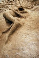 woman in sand by livzie
