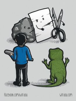 Rock Paper Scissors Lizard Spock by WirdouDesigns