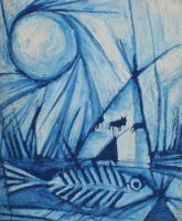 Fish and Teepee by RobLock