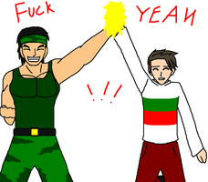 APH - Bulgaria and Rambo by Kaiju-Borru-Zetto