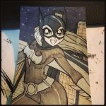Batgirl Sketch Card by the-kid36