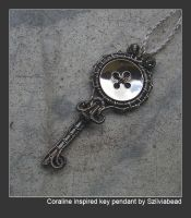 Coraline inspired key pendant by bodaszilvia