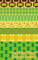 Groovy 70s Themed Photoshop Patterns by sdwhaven