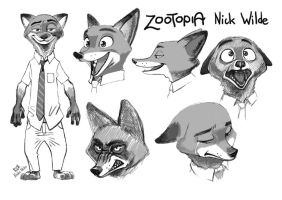 Zootopia Nick Wilde by PAPER---MAN