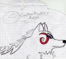 Doodles in class - Wolf 2 by CartoonMad97