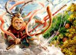 Sun Wukong (Happy Year of the Monkey) by eikomakimachi