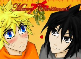 SasuNaru Christmas - 2009 by Hikuja
