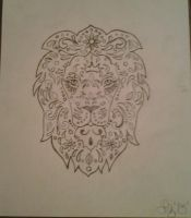 Lion doodle by lizzyj2217