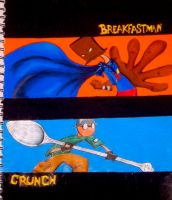 Breakfastman and Crunch by notAlex