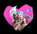 Ekko and Jinx by YaraFerreira