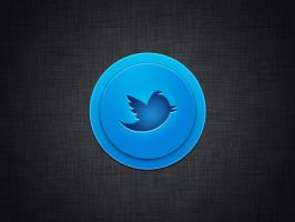 Scalable Twitter Button by Rafael-Olivra