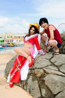 Hancock and Luffy by mila-tiemy