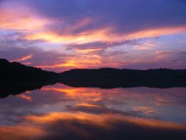 Mirrored Sunset by Anachronist84