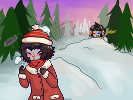 .:Snowball Fight:. by kira-Iru