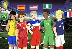 Hetalia World Cup 2014 by 1Abiodun