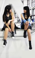 Tifa and Rinoa cosplayers by PrincessRiN0a
