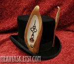 Steampunk March Hare Top Hat by merimask