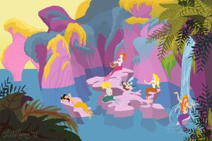 Mermaid Lagoon by LilMoony