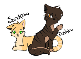 Sandpaw and Dustpaw by SerenadingLove