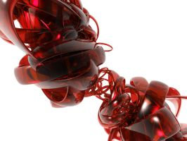Abstract Swirl Dark Red by snefan