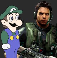 Weegee and Chris Redfield by NiGHTSfanKevin