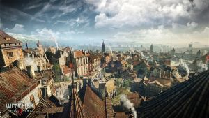 The Witcher 3 Wild Hunt the city of Novigrad by Scratcherpen