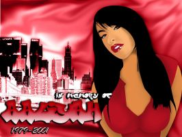 In memory of Aaliyah by juniordesigns