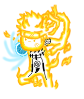 Naruto KCM with rasengan-Adventure Time style by Musical-Coffee