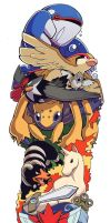 Colour Pokemon Sleeve by H0lyhandgrenade