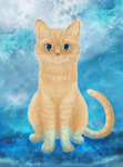 Digital painting Cat - Romeo by maripiou