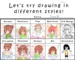 Different styles ! ~ by J-chan33