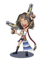 Trigger Happy Yuna by ReallyAngry
