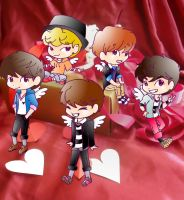 SHINee cupids by Pulimcartoon