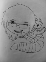 chibi Kai and cheshire by 8melancholy-girl8