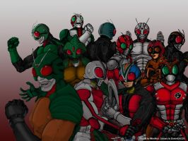 Kamen Riders Forever by Dante424325