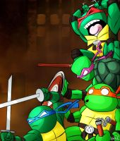 Teenage Mutant Ninja Turtles by PandaFace