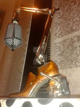 hand made lamp from recovered materials by zanderednaz