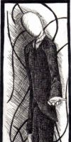 Slenderman Bookmark by Caelistis-Rydraline