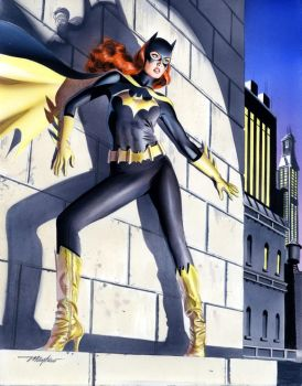 Mike Mayhew Batgirl Painted Commission by mikemayhew
