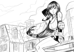 Tifa Sketch by ZigEnfruke