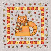 cat for pillow by Norvaal