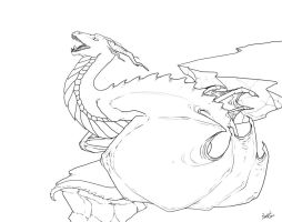 Cliff Dragon - Free Colouring Page by Rooncakes