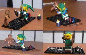 Link and Re Dead Lego Figures ZELDA Custom OOAK by TorresDesigns