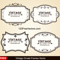 Vintage Ornate Frames Vector by 123freevectors